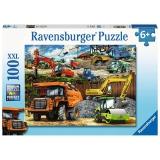 Puzzle Vehicule De Constructii, 100 Piese Ravensburger