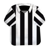 Farfurii 22 cm in forma de tricou Alb/Negru 10 buc/Set Big Party