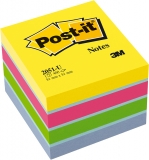 Notite adezive nuante ultra minicub Post-It 51 mm x 51 mm 400file/cub 3M
