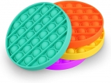 Jucarie senzoriala antistres Pop it Now and Flip it, Push Bubble model cerc culori mixte
