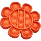 Jucarie senzoriala antistres Pop it Now and Flip it, Push Bubble model floare culori mixte