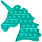 Jucarie senzoriala antistres Pop it Now and Flip it, Push Bubble model unicorn culori mixte