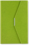 Agenda A5 cu magnet, culoare verde, 250 file, Ultra