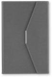 Agenda A5 cu magnet, culoare gri, 250 file, Ultra