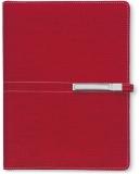 Agenda organizator A5 cu catarama, rosu, 290 file, Trend