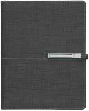 Agenda organizator A5 cu catarama, negru, 290 file, Trend