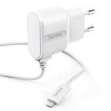 Incarcator priza Lightning pentru Apple iPhone, alb Hama