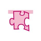 Puzzle Monocolor Roz  Big Party