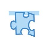 Puzzle Monocolor Albastra  Big Party