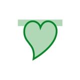 Inima Monocolora Verde Big Party