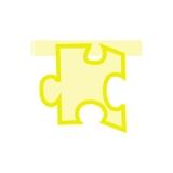 Puzzle Monocolor Galben  Big Party
