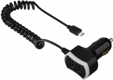 Incarcator auto Triple Power, micro USB, 7.2 A, negru Hama