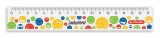 Rigla plastic 17 cm Smiley World Herlitz