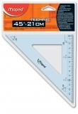 Echer plastic Tehnic 45° 21 cm Maped