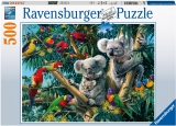 Puzzle Koala In Copac, 500 Piese Ravensburger