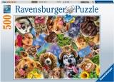 Puzzle Selfie Cu Animale, 500 Piese Ravensburger