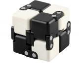 Cub antistres Fidget Toy Infinity Magic Cube, culoare alb/negru