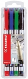 Marker permanent Write 4 All, 0.7 mm, 4 buc/set Stabilo