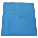 Dosar carton color, albastru, cu capse, coperta 1/1, tip L