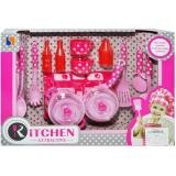 Set Bucatarie roz in cutie