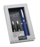 Set caligrafie BW Vision Style albastru in cutie magnet ONLINE Germany