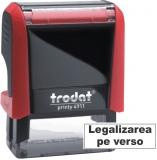 Stampila notariala Legalizarea pe verso 38 x 14 mm Trodat