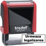 Stampila notariala Urmeaza legalizarea 38 x 14 mm Trodat