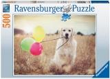 Puzzle Catel Cu Baloane, 500 Piese Ravensburger