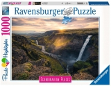 Puzzle Cascada Haifoss Islanda, 1000 Piese Ravensburger