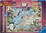 Puzzle Harta Europei, 500 Piese Ravensburger