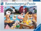 Puzzle Catei La Piscina, 1000 Piese Ravensburger