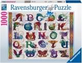 Puzzle Alfabet Dragon, 1000 Piese Ravensburger