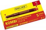 Patroane cerneala Kombi, rosu, 5 buc/set Online Germany