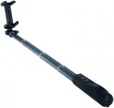 Selfie Stick Aluminiu, bluetooth, cu lanterna integrata, 80 cm, negru Hama