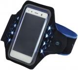 Banderola Active pentru smartphone, cu LED-uri, XL, albastru Hama