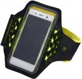 Banderola Active pentru smartphone, cu LED-uri, XL, galben Hama