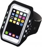 Banderola Active pentru smartphone, cu LED-uri, XL, negru Hama