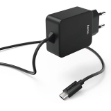 Incarcator priza USB Type C negru Hama