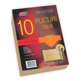 Plic B4 burduf siliconic kraft 250 x 353 x 30 mm, 120 g/mp, 10 buc/set GPV