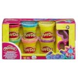 Play-Doh cu sclipici 6 buc/set
