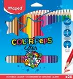 Creioane colorate Color Peps Star 24 culori/set Maped
