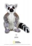 Jucarie Plus Venturelli - National Geographic Lemur in picioare 30 cm - AV770757