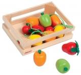 Janod - Lada cu 12 fructe din lemn - J05610