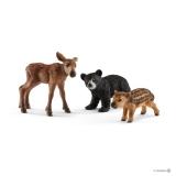 Set figurine Schleich - Puii de animale de padure - SL41457