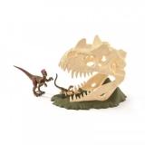 Set figurine Schleich - Craniu mare cu velociraptor - SL42348