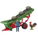 Set figurine Schleich - Banda transportatoare pentru fan cu fermier - SL42377