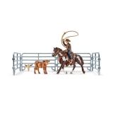 Set figurine Schleich - Vacar cu lasou prinzand un vitel - SL41418