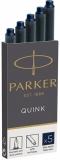 Rezerva stilou albastru inchis Permanent Cartus Quink Standard Parker