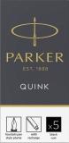 Cartus standard permanent, culoare negru, 5 buc/set, Quick Parker