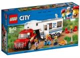 Camioneta si rulota 60182 LEGO City
